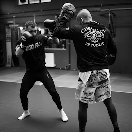 Preparing For War - 003 by Russell Dixon - Sports & Fitness Boxing ( samyang, muay thai, thai boxing, sony alpha, 35mm, padwork, martial arts, rokinon, sony, combat sports, sports photography, ufc, sparring, mixed martial arts, boxing, mma, a7s, kickboxing )
