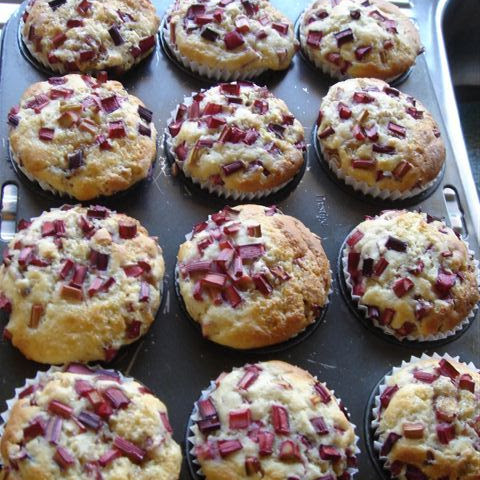Rhubarb and Custard Muffins