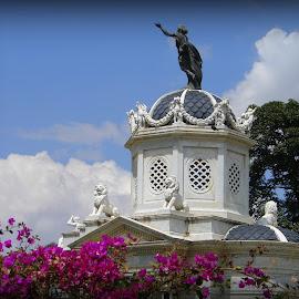 Bolivian Cupola by Lew Davis - Buildings & Architecture Architectural Detail ( building, pagoda, pagodas, art, statues, cupolas, architecture, lew davis, statue, cupola, bolivia, gazebo, construction )