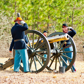 The Battle of Aiken by Robert Watson - Novices Only Portraits & People ( horses, reenactors, cannons, war between the states, civil war, infantry, union soldiers, south carolina, 1865, history, muskets, reenactment, soldiers, aiken county, battle of aiken, aiken, artillery, confederate soldiers, cavalry )