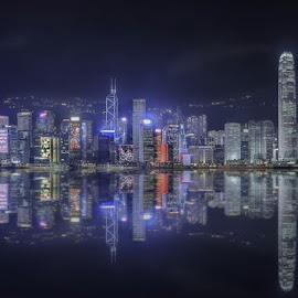 Reflection of Hong Kong island.. by Ian Jo - Uncategorized All Uncategorized