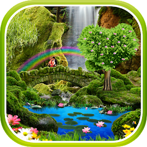 Waterfall Romantic Wallpaper