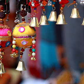 Bells and Balls by Sridhar Balasubramanian - Products & Objects Business Objects ( wall hanging, handicraft, bells, india, colourful decoration )