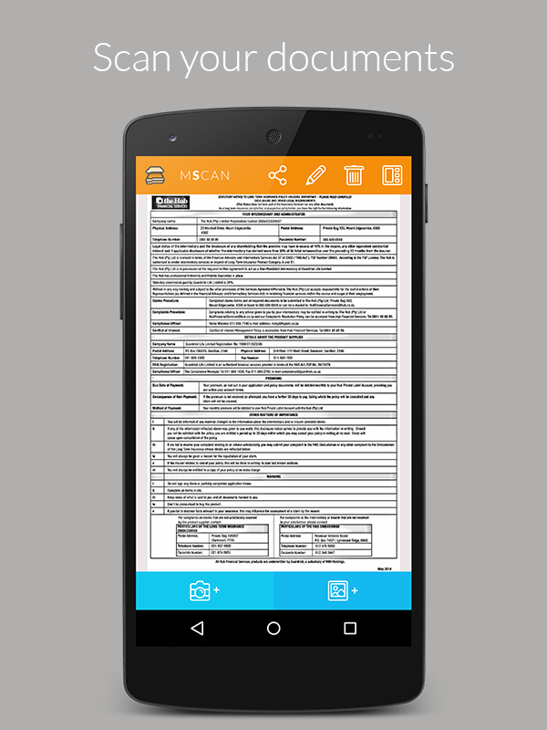mScan-Smart Document Scanner Screenshot 0