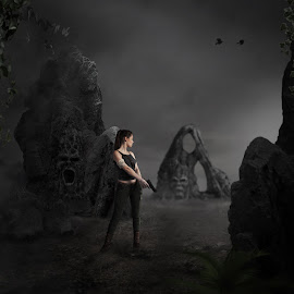 Exploratio by Frank Quax - Digital Art People ( fantasy, edited, moody, dark, photoshop, photography, creative, landscape, fear )