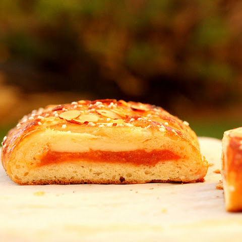 Danish Braid with Apricot and Confectioner's Cream Filling