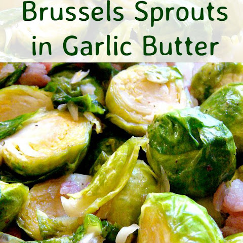 Bacon and Brussels Sprouts in Garlic Butter