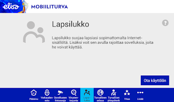 Screenshot of Elisa Mobiiliturva