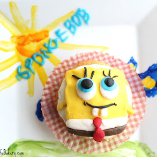 Spongebob Cupcakes with Frosting
