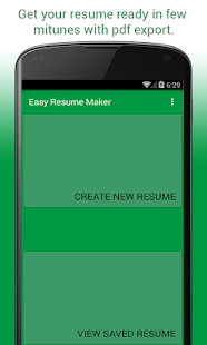 Easy Resume Maker screenshot for Android