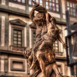 The Rape of Polyxena by Darin Williams - Buildings & Architecture Statues & Monuments ( polyxena, statue, florence, loggia, piazza della signoria )