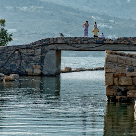 Out for a Walk by Dan Herman - Buildings & Architecture Bridges & Suspended Structures ( greece, bridge, crete, elounda )