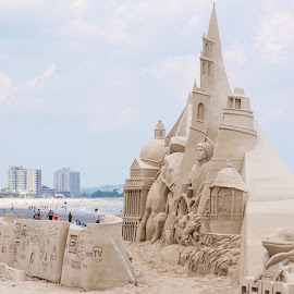 International sand sculpture competition, Revere Beach, MA by Lori Rider - Artistic Objects Other Objects