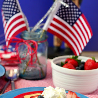 Patriotic Shortcake Ice Cream Sandwiches