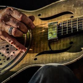 guitarist by Prentiss Findlay - People Musicians & Entertainers ( singer and guitarist, guitarist, guitarist and singer, singer, singing guitar )