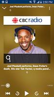 Screenshot of CBC Radio