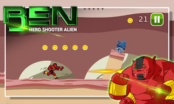 Ben Hero Shooter Alien apk screenshot