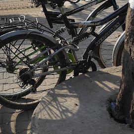 Parked by Prasanta Das - Transportation Bicycles ( bi-cycles, shadow, still, parked )