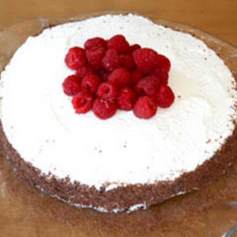 Chocolate Cassis Cake with Raspberries