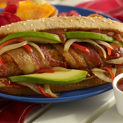 Sizzling Sausage, Bacon and Avocado Sandwich