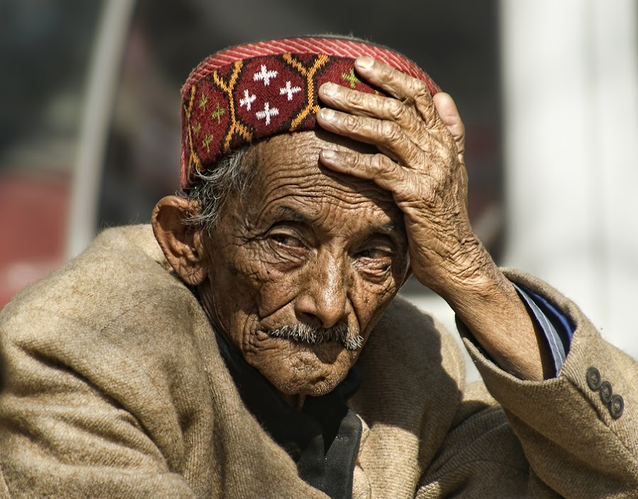 Deep Thoughts!.. by Veeresh Pathania - People Portraits of Men ( old man, man )