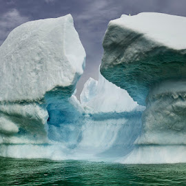 Iceberg 13 by Fokion Zissiadis - Landscapes Caves & Formations ( glacier, iceberg, icecap, greenland, arctic, seascape )