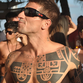 Tatoo and sunglasses by Cristobal Garciaferro Rubio - People Portraits of Men ( pwcsunglasses )