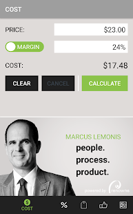 Marcus Margin Calculator screenshot for Android