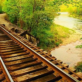 Frenchville Railway by Travis Houston - Transportation Railway Tracks