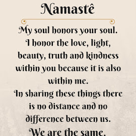 Namaste by Dani Freitas - Typography Quotes & Sentences ( religion, quote, cultural, typography, pretty )