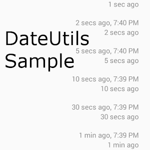 DateUtils Sample