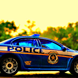 Scene Police by Vince Scaglione - Artistic Objects Toys ( match box, car, police, toy, scene )