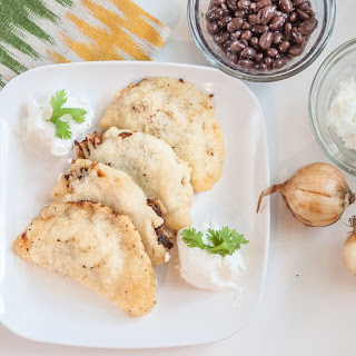 Gluten Free Black Bean Goatcheese and Caramelized Onion Empanadas #PANFAN