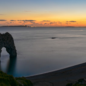 Door by Mohammed Hashmi - Landscapes Beaches ( sunset, door, beach, durdle door )