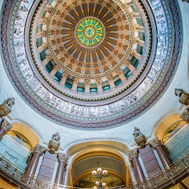 Capital Dome by Darrin Ralph - Buildings & Architecture Other Interior ( interior, illinois, dome, circle, capital )