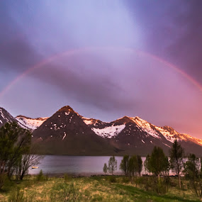 Rainbow by Benny Høynes - Landscapes Weather ( canon, mountains, rainbow, rain, colours )