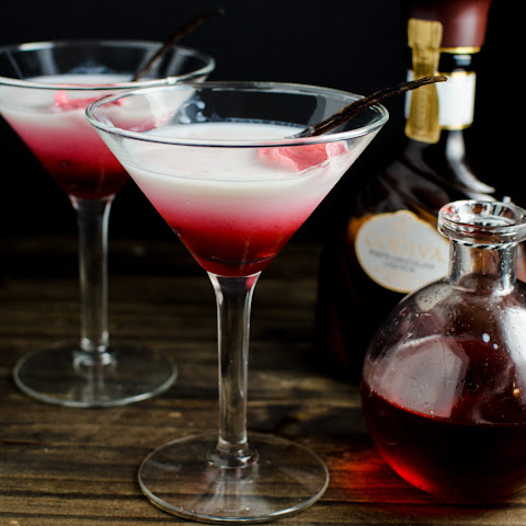 Vanilla Rose and White Chocolate Cocktail