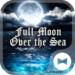 Full Moon Over the Sea Theme Icon