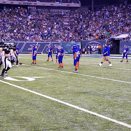 Keansburg Titans at Met life Stadium  by Frank Way - Sports & Fitness American and Canadian football