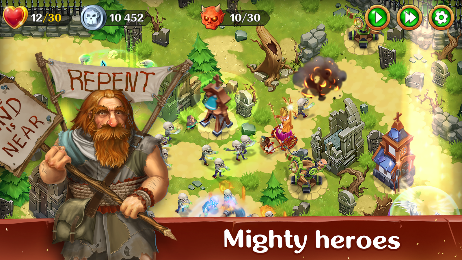 Holy TD: Epic Tower Defense Screenshot 1