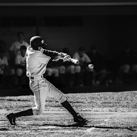 The Batter by Earl Heister - Black & White Sports