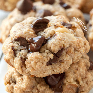Vegan Gluten-free Walnut Chocolate Chip Cookies