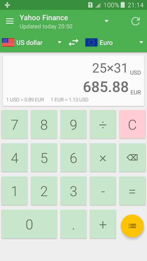 Currency Converter Calculator Screenshot 0