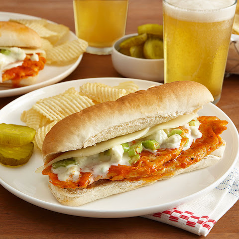 Easy Buffalo Chicken Cheesesteaks