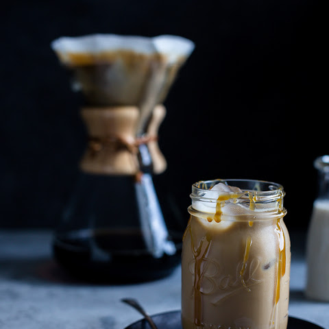 Spiked Salted Caramel Iced Coffee