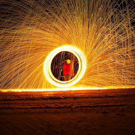 Man at work by Kimmi Walrath Doerr - Abstract Light Painting (  )