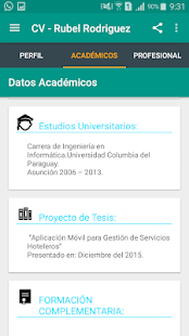 CurriculumApp Rubel Rodriguez - screenshot