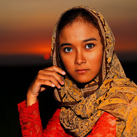 Sunset Background2 by Imron Rosyadi - People Portraits of Women