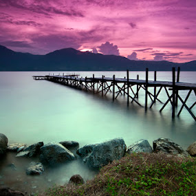 Twilight at Taipa Beach by Hajar Wisnu Dwiputra - Landscapes Beaches