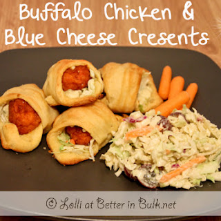 Buffalo Chicken & Blue Cheese Crescents